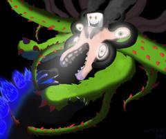 Godzilla Vs Omega Flowey by curtiscat2001
