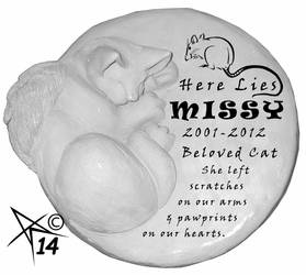 Missy\'s Tombstone, in Clay by Zagzagel