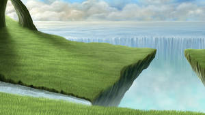 Steep Cliff by Apveku