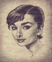 Audrey Hepburn by EddieHolly