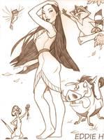 Pocahontas and Company by EddieHolly