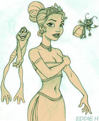 Princess Tiana Lines by EddieHolly