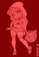 Litte Red Riding Hood - Sketch by EddieHolly