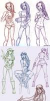 Trickster Sketches by EddieHolly