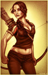 Katniss Everdeen - The Hunger Games by EddieHolly