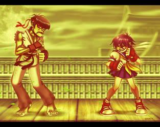 Street Fighter Gorillaz Style by EddieHolly
