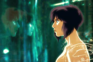 Motoko Kusanagi - Ghost In The Shell by EddieHolly