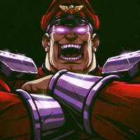 M Bison laughs at you by EddieHolly