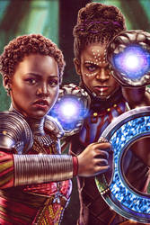 Nakia and Shuri - Black Panther by EddieHolly