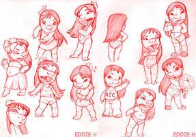 Lilo Sketches by EddieHolly