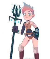 Cyberpunk Warrior girl by bonnieefire