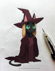 Cat Witch by bonnieefire