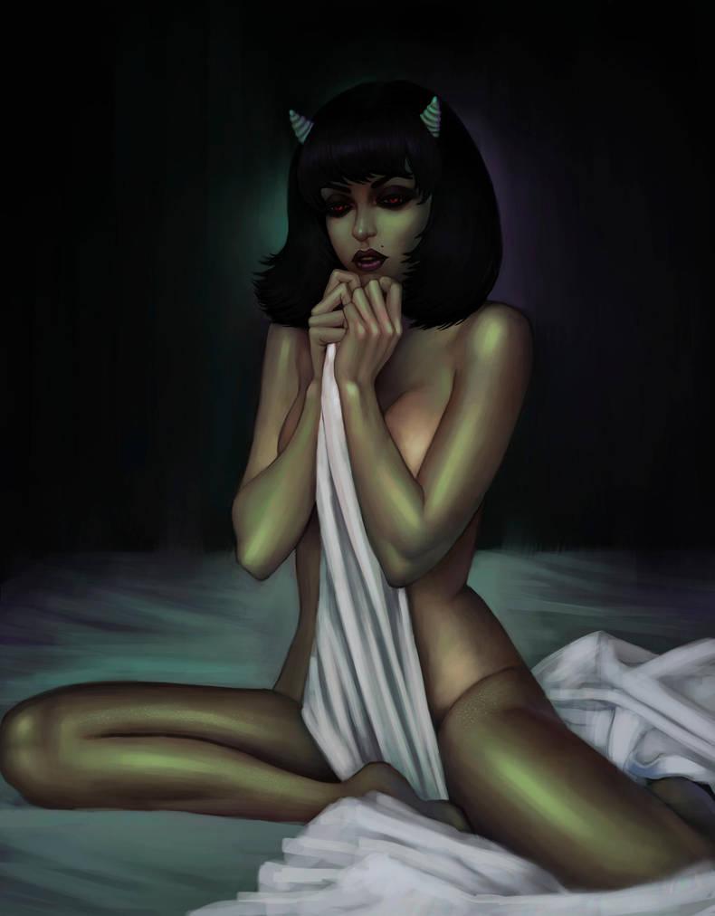 Cute demon by Drujart