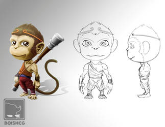 the mighty monkey king sun wukong by boishred
