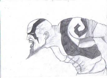 Kratos drawing by Beyourselfmert