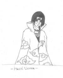 Uchiha Itachi drawing by Beyourselfmert
