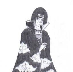 Itachi Uchiha drawing by Beyourselfmert