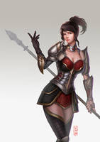 Lady Knight by Nekomancerz