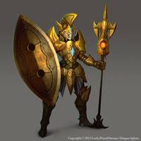 Gold Knight -Advanced lvl03- by Nekomancerz