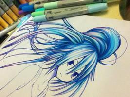 Hatsune Miku by chocogingerfingers