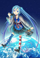 Project Diva f 2nd - World Miku by chocogingerfingers