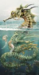 Seahorse Dragon by Rungue