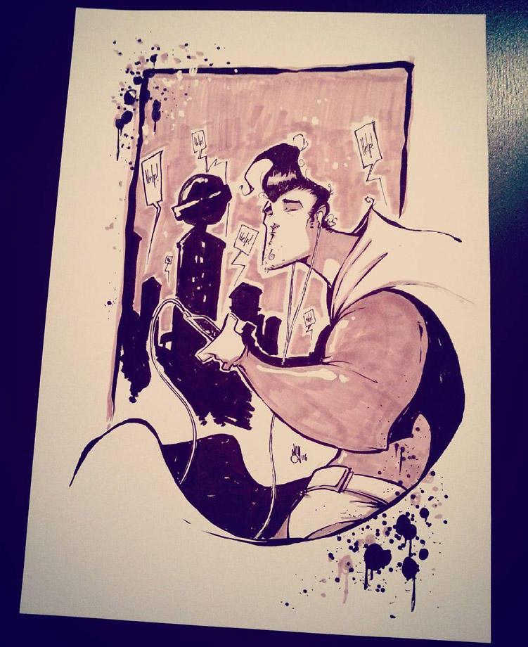Superman Inktober by NoahWhyler