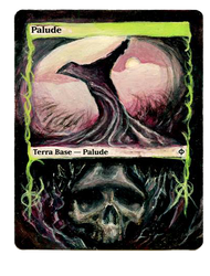 Altered Magic Card - Swamp by MortisQueen