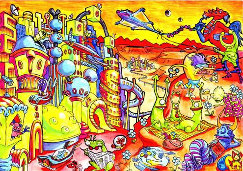 Martian Scene by Adoradora