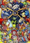 Space Battle Scene by Adoradora