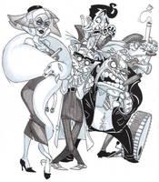 Detective Slate lineup 2 by Adoradora