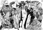 Batman Villains Line-up 1 by Adoradora