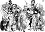 Batman Villains Line-up 2 by Adoradora