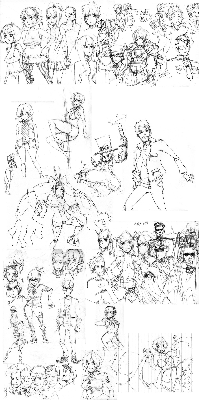 April 14 Sketch Dump by roaldiswack