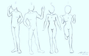 Body Proportions and Poses Practice Sketch by mine22mine