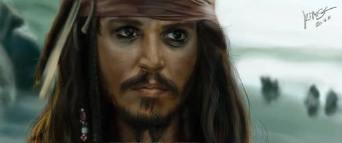 Portrait - Jack Sparrow by KimiSz