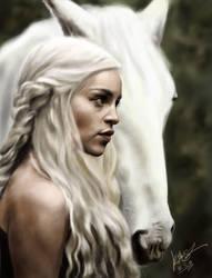 Portrait - Daenerys Targaryen by KimiSz