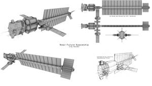 Near Future Spaceship CR1 by Mallacore