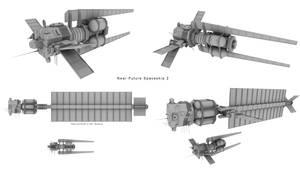 Near Future Spaceship 2 by Mallacore