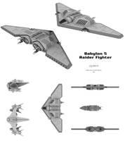 Babylon 5 - Raider Fighter by Mallacore