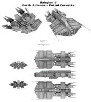 (Babylon 5) Earth Alliance - Patrol Corvette by Mallacore