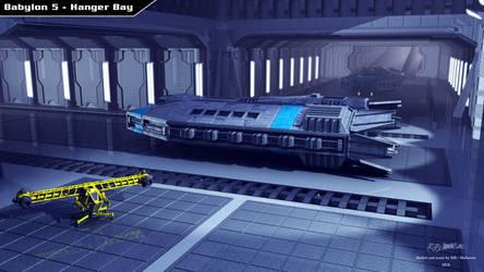 Babylon 5 - Hanger Bay by Mallacore