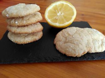 Lemon (crinkle) cookies by flameshaft