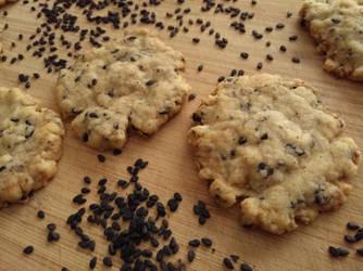 Black sesame cookies by flameshaft
