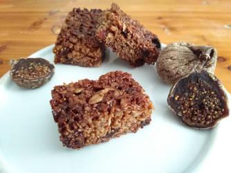 Fig flapjacks/granola bars by flameshaft