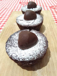 Mini mint chocolate cakes by flameshaft