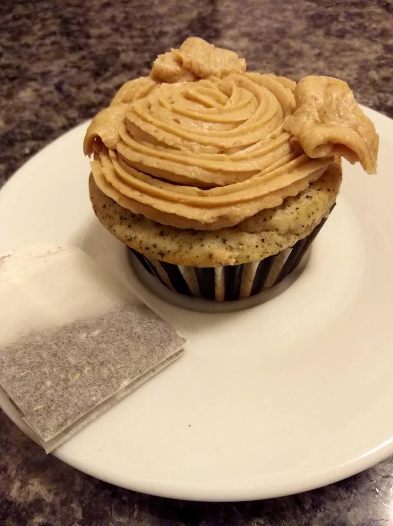 Earl Grey cupcakes by flameshaft