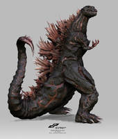 zShinGodzilla full concept alternate 2 by dopepope