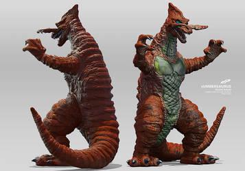 zUmbersaurus Pachi Kaiju alternate views/colors by dopepope