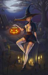 Halloween graveyard by SaiTeadvuse